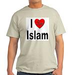 I Love Islam (Front) Ash Grey T-Shirt