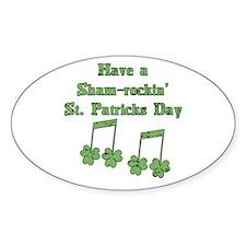 Shamrockin' St. Patty Oval Decal