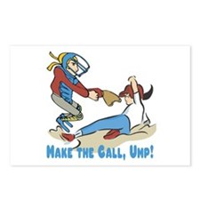 Make The Call Ump (Females) Postcards (Package of