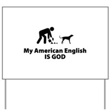 American English Coonhound Yard Sign