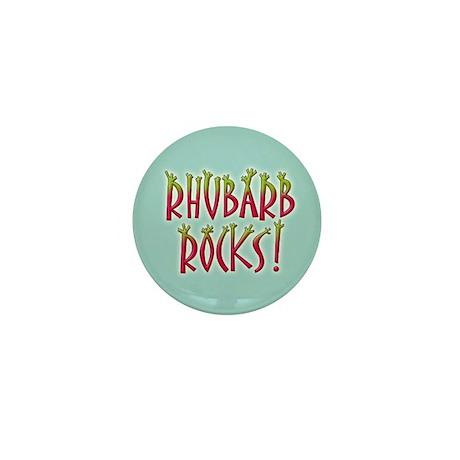 Rhubarb Rocks Mini Button