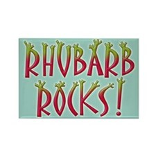 Rhubarb Rocks Rectangle Magnet
