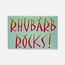 Rhubarb Rocks Rectangle Magnet