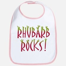 Rhubarb Rocks Bib