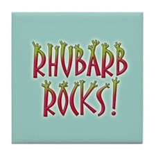 Rhubarb Rocks Tile Coaster