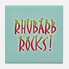 Rhubarb Rocks Tile Coaster