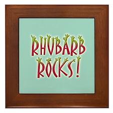 Rhubarb Rocks Framed Tile