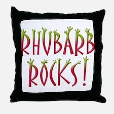 Rhubarb Rocks Throw Pillow