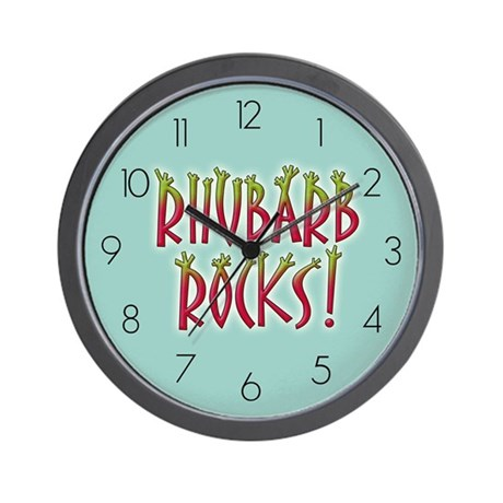 Rhubarb Rocks Wall Clock