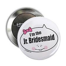 """Jr. Bridesmaid 2.25"""" Button"""