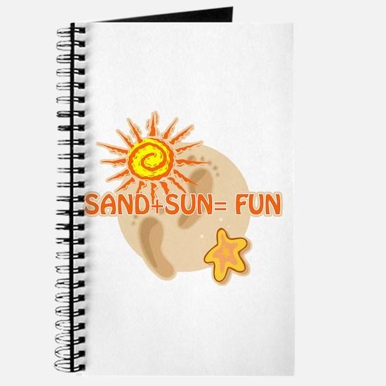 Sand+Sun=Fun Journal