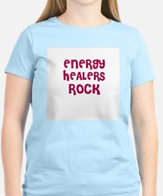 ENERGY HEALERS ROCK Women's Pink T-Shirt