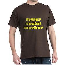 super social worker (Yellow) T-Shirt