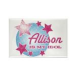 Halftone Idol Allison Rectangle Magnet
