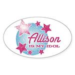 Halftone Idol Allison Oval Sticker