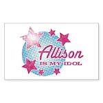Halftone Idol Allison Rectangle Sticker