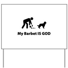 Barbet (French Water Dog) Yard Sign