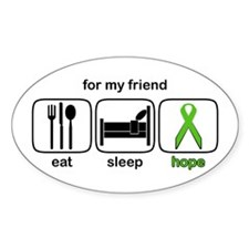 Friend ESHope Lymphoma Oval Decal