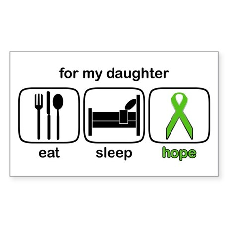 Daughter ESHope Lymphoma Rectangle Sticker