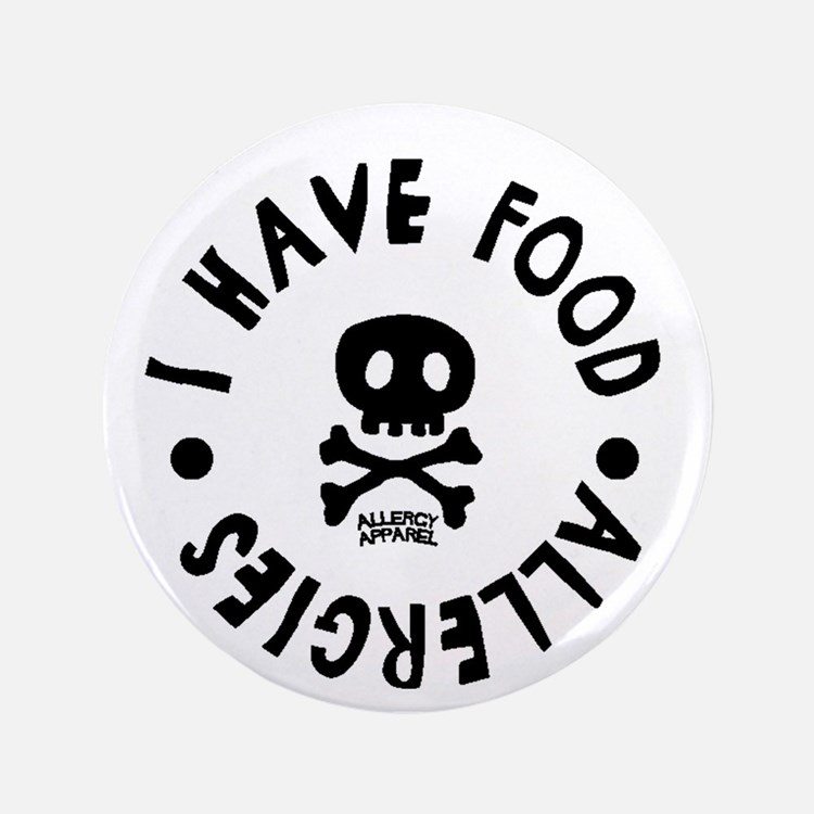 "I have Food Allergies 3.5"" Button"