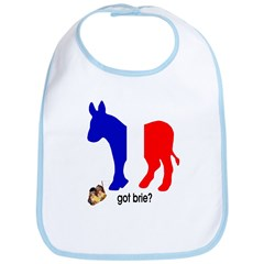 Got Brie? Democratic Party Foreign Policy Bib