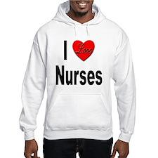 I Love Nurses (Front) Hoodie