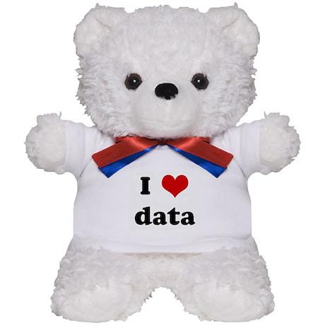 I Love data Teddy Bear