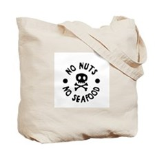 No Seafood, No Nuts, No Dairy 2 sided Tote Bag