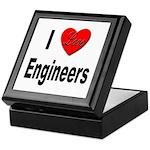 I Love Engineers Keepsake Box