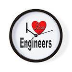 I Love Engineers Wall Clock