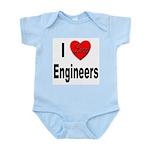 I Love Engineers Infant Creeper