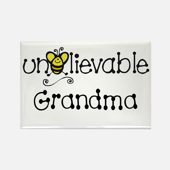 Unbelievable Grandma Rectangle Magnet