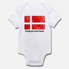 Rodgrod med flode Infant Bodysuit