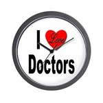 I Love Doctors Wall Clock