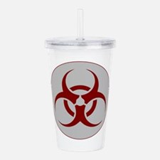 biohazard outbreak log Acrylic Double-wall Tumbler