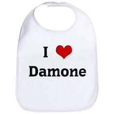 I Love Damone Bib