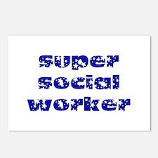 super social worker (Navy) Postcards (Package of 8