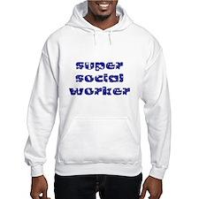 super social worker (Navy) Hoodie