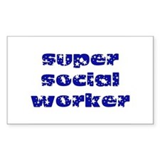 super social worker (Navy) Rectangle Decal