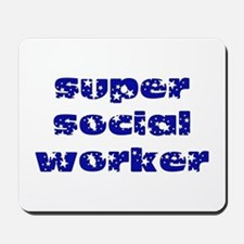 super social worker (Navy) Mousepad