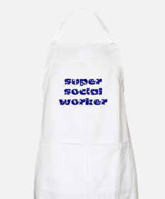 super social worker (Navy) BBQ Apron