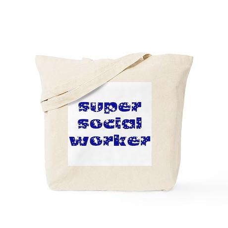 super social worker (Navy) Tote Bag