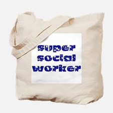 super social worker (Navy) Tote Bag