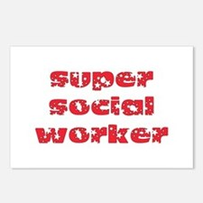 super social worker (Red) Postcards (Package of 8)