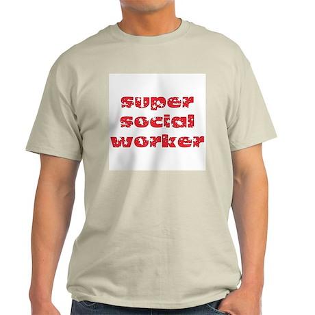 super social worker (Red) Light T-Shirt