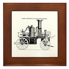 Silsby Fire Engine Framed Tile