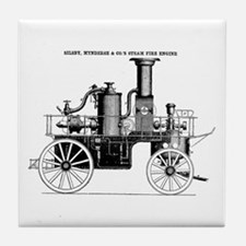 Silsby Fire Engine Tile Coaster