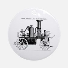 Silsby Fire Engine Ornament (Round)