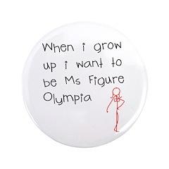 "Grow up figure O 3.5"" Button"