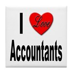 I Love Accountants Tile Coaster